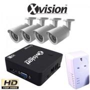 Bezdrátový IP CCTV set: 4 HD kamery (720P) + NVR