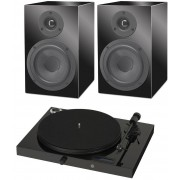 Pro-Ject Juke Box E with Project Speaker Box 5 (Pair) Black