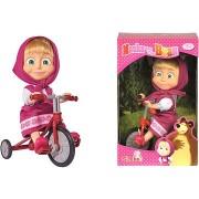 Simba Mása és Medve Mása egy triciklin