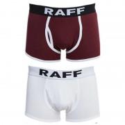 Anaissa Raff [2 Pack] Cotton Sport Open Boxer Brief Underwear White & Dark Red 84646