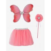VERTBAUDET Disfarce Fada + varinha mágica rosa vivo bicolor/multicolor
