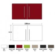 Keuken Metalen wandkast Bordeauxrood 100cm RAI-836