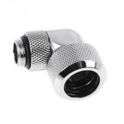 Fiting adaptor la 90 grade Alphacool Eiszapfen 16mm Hard Tube - filet exterior G1/4 rotativ - Chrome