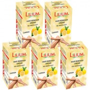 Lilium Lemon Hair Removal Cream 40g Pack of 5