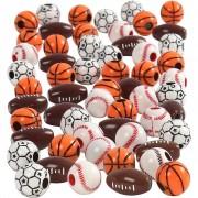 Creativ Company Sportpärlor, stl. 11-15 mm, hålstl. 3-4 mm, 270 g, mixade färger
