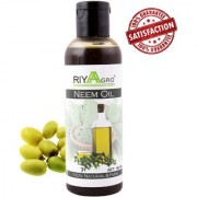RIYAAGRO 100 Natrual Pure Undiluted Cold Pressed Neem Oil For Hair-Scalp-Skin-Face-Nails-- 100 ml