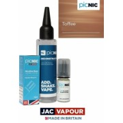 Lichid Tigara Electronica Premium Jac Vapour Toffee 60ml, Nicotina 3mg/ml, 80%VG 20%PG, Fabricat in UK, Pachet DiY