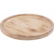 Geen Kaarsenbord/plateau hout/houten 27 cm rond