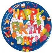 Set 10 farfurii mici Happy Birthday