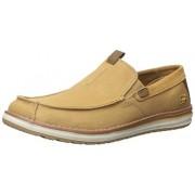 Skechers USA Men's Melson Velerio Slip-on Loafer, Tan, 11 M US
