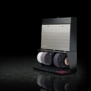 Černo-stříbrný čistič bot Polifix 4, Heute