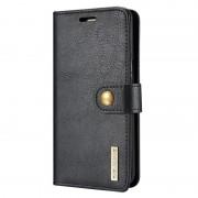 Capa Pele DG.Ming 2-en-1 para Samsung Galaxy S8+ - Tipo Carteira - Preto