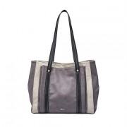 Relic by Fossil Women's Bailey Double Shoulder Handbag Purse, Color: Grey/Black