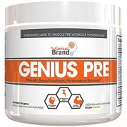 GENIUS Pre Workout - Nootropic Based Pre Workout & Caffeine Free Nitric Oxide Boosting Formula with No Cheap Stimulants Fillers or Dyes Grape Limeade