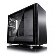 Кутия Fractal Design Define R6 USB-C Blackout – TG, mATX, ATX, ITX, EATX, USB 3.1 Gen 2 Type-C, черна, без захранване