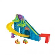 Fisher-Price Little People Wheelies Roller Coaster Gift Set, blue