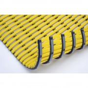 Nassraummatte, antibakteriell pro lfd. m gelb, Breite 600 mm