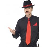 Set palarie petrecere cravata si batista gangster