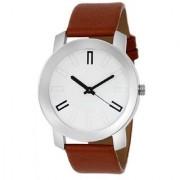 Mastani Round Dail Brown Leather StrapMens Quartz Watch For Men