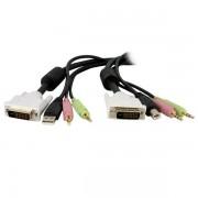 StarTech 1,80m 4-in-1 USB Dual-Link DVI-D KVM-switch Kabel met Audio en Microfoon