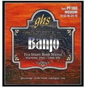 GHS Strings PF180 5-String Banjo Strings Stainless Steel Medium (.011-.024)