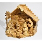 Božićne jaslice iz Betlehema od maslinova drveta (veće - 16 cm)
