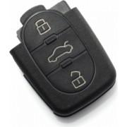 Accesoriu carcasa cheie 3 butoane fara buton panica pentru baterie 1616 Audi negru