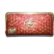 Pin to Pen Casual Gold, Maroon Clutch