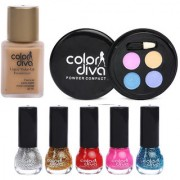 Beautify You By Color Diva Makeup Combo Set Of 7 C-522