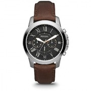 Fossil Grant Chronograph Black Dial Mens Watch - FS4813
