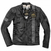 Black-Cafe London Paris 2019 Giacca in pelle motociclistica Nero Grigio 52