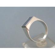 Zlatý pánsky prsteň biele zlato obdĺžnikovy onyx DP67563B