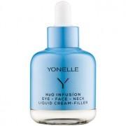 Yonelle H2O Infusion crema líquida de efecto antiarrugas rápido en los contornos de los ojos, el rostro y el cuello 50 ml