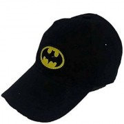 Tahiro Black Batman Cotton Cap - Pack Of 1