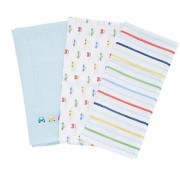 Mothercare - Set Museline Bumbac 60x60 cm, 3 buc, On The Road