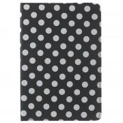 Bolsa Rotativa Polka Dots para iPad Mini 4 - Preto / Branco