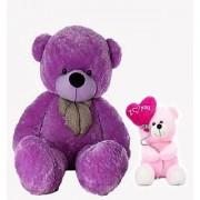 Priya Combo Offer 6 Feet Soft Teddy Bear With 26CM Pink