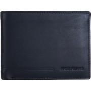Massi Miliano Men Formal Black Genuine Leather Wallet(6 Card Slots)