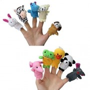 Adorox Animal Finger Puppets Kids Baby Cute Play Storytime Toys (Assorted Animals (10 Pieces))