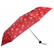 Doppler Umbrelă pliantă mecanică pentru femei Mini Edelweiss 700065E01 roșie