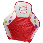 Child Toy Mallcat Pop up Hexagon Polka Dot Ball Play Pool With A Basket