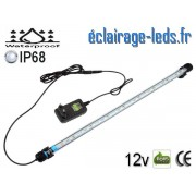 Tube LED 5W Submersible Blanc 48cm Aquarium IP68 12V ref tla-04