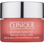 Clinique All About Eyes™ Rich crema hidratante para contorno de ojos antibolsas y antiojeras 15 ml