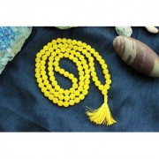 Yellow Agate/Hakkik 108 Beads Buddhist Prayer/Japa/Rosary/wearing/Fashion Wear Mala