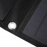 ER 15W Plegable Solar Travel Panel De Camping Cargador De Batería Portátil Negro