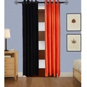 Iliv Plain Curtains Set Of 2 -1Black1Orange9Ft