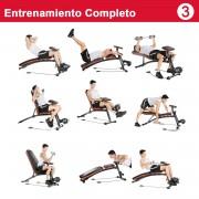 HOMCOM Banco de Musculação Dobrável, Inclinável Banco de Musculação Halteres Pesos Polivalente para Treino Completo Máquina de Fitness Ginásio Casa