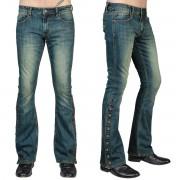 Uomo i pantaloni (jeans) WORNSTAR - Hellraiser - Annata Blu - WSP-HRBSBV