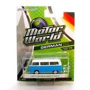 1977 VOLKSWAGEN TYPE 2 (Blue/White) * Motor World Series 15 * 2016 Greenlight Collectibles German Edition 1:64 Scale Die-Cast Vehicle