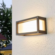 Lampenwelt.com Aurelien - Applique d'extérieur à encadrement gris - LAMPENWELT.com